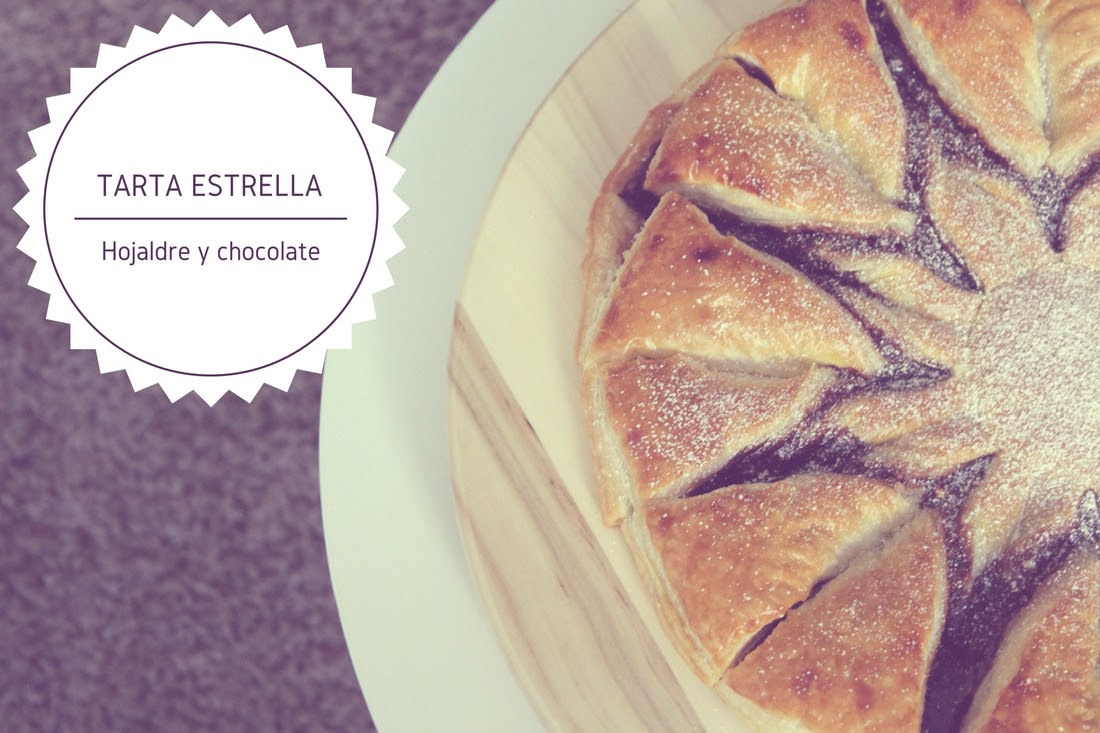 Tarta estrella de hojaldre y crema de cacao Punto de Lu