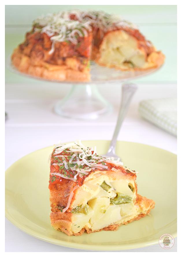 Cake Sal Ef Bf Bd Mozzarella Lardons Tomates S Ef Bf Bdch Ef Bf Bdes