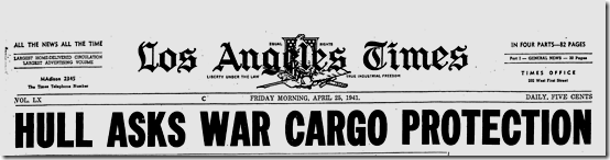 25 April 1941 worldwartwo.filminspector.com LA Times headline