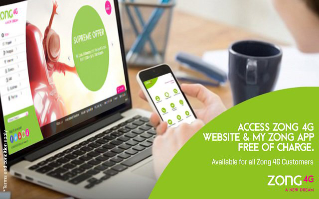 Now Get Free Access with Zong Official App & Website
