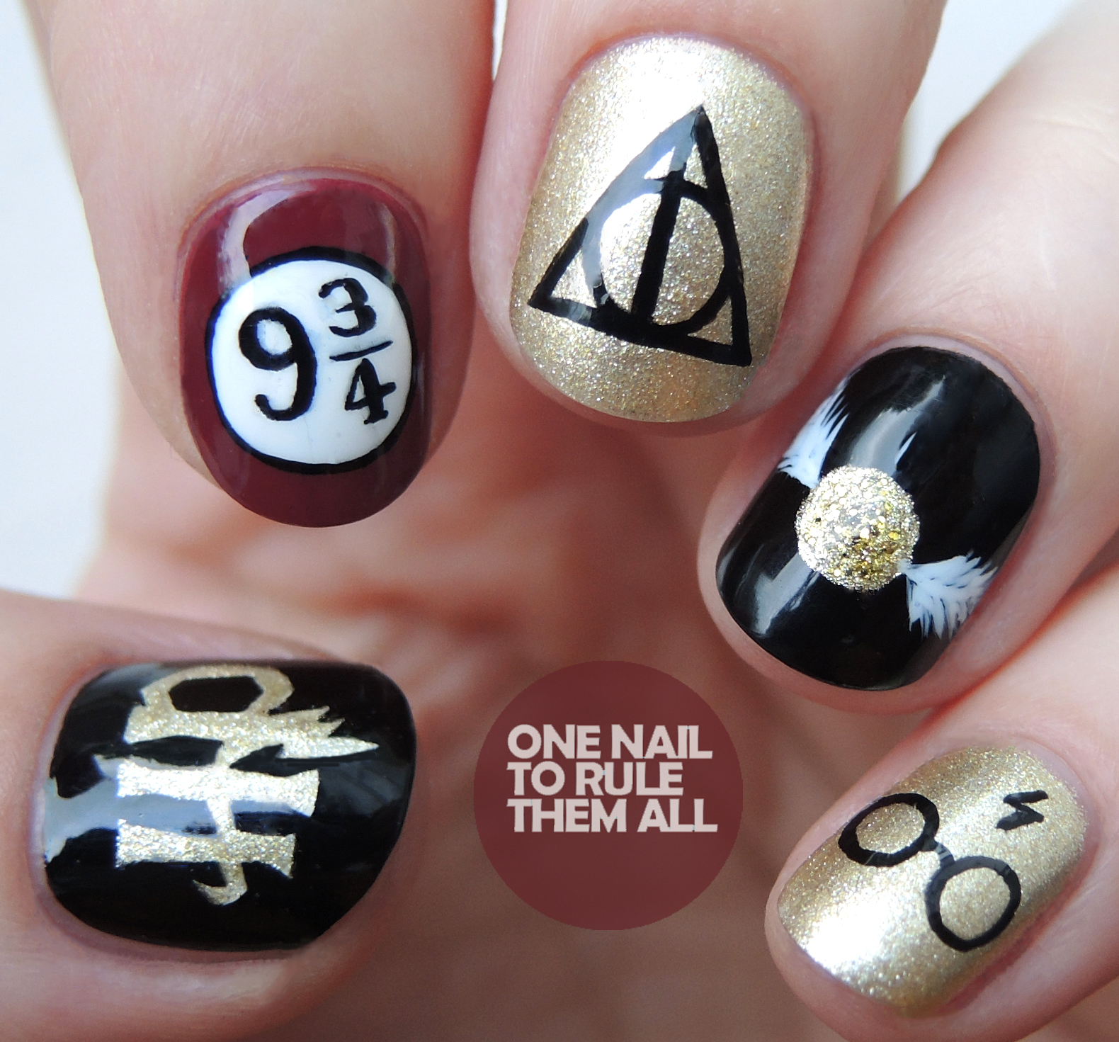 Harry Potter Nail Art | One Nail To Rule Them All | Bloglovin\'
