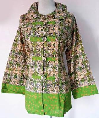 model baju batik modern atasan wanita