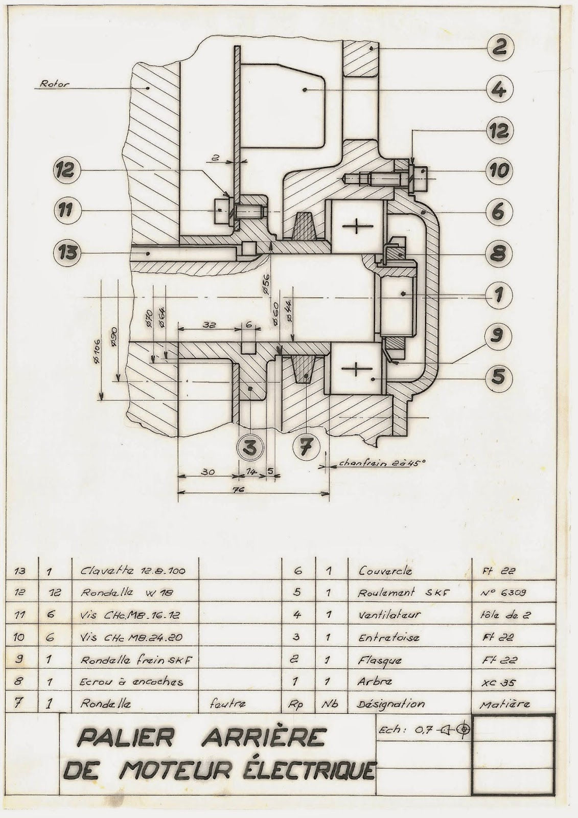 mecanique en ligne palier arri re de moteur lectrique plan t l charger imprimer. Black Bedroom Furniture Sets. Home Design Ideas