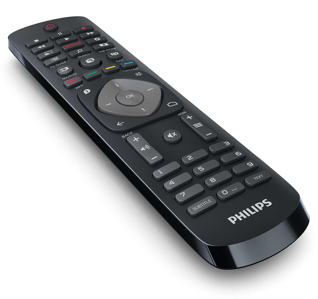 Geek o nerd philips 50put6400 12 50 4k uhd for Philips telecomando