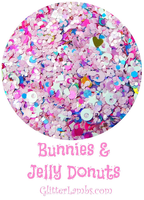 "Glitter Lambs ""Bunnies And Jelly Donuts"" Nail Polish And Loose Glitter Mix"
