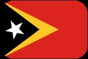 Rounded flag of Timor-Leste (East Timor)