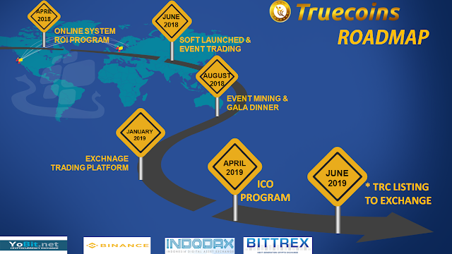 Truecoins Roadmap