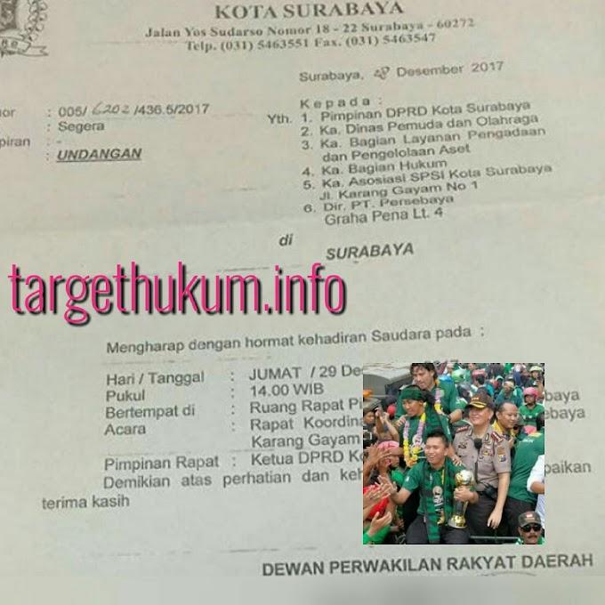 Dipersulit Pemkot, Persebaya Mengadu Ke DPRD Surabaya