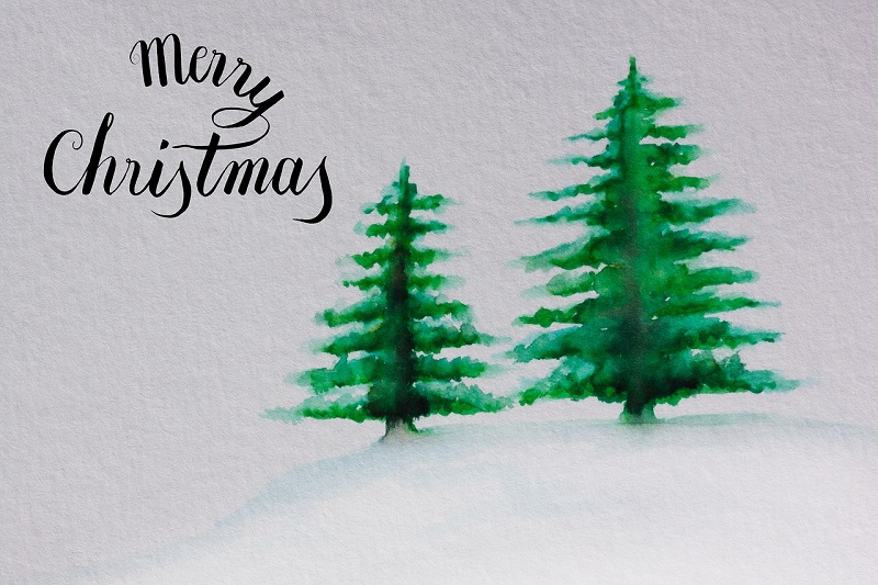 Paint Chip Christmas Tree Cards