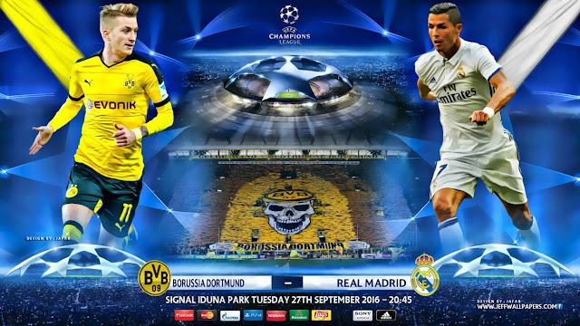 Borussia Dortmund x Real Madrid (27/09/2016) - Champions League 2016-2017 - Prognóstico, Horário e TV