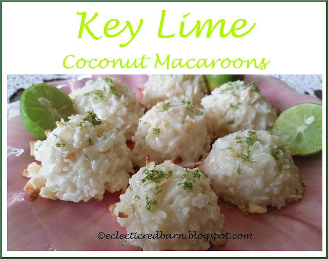 Eclectic Red Barn: Key Lime Coconut Macaroons