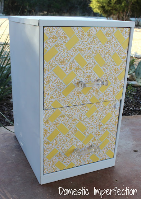 http://www.domesticimperfection.com/2013/02/5-file-cabinet-makeover/