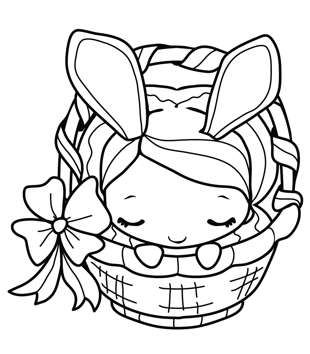 bunny coloring pages for girls - photo#1