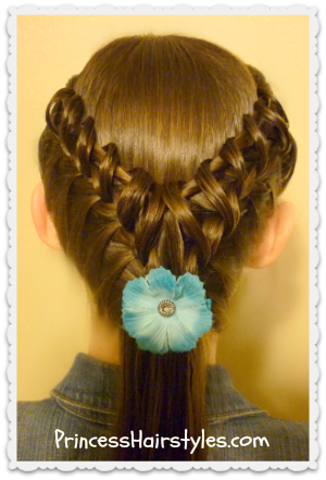 "cute ""hook and ladder braid"" hairstyle"