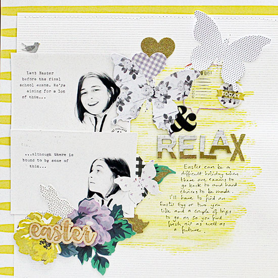 Sian Fair scrapbooking for Gossamer BLue