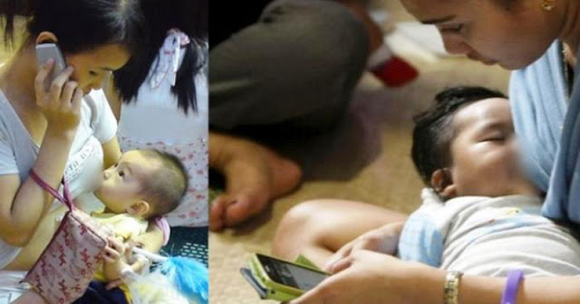 Komunikasi Memang Penting Bu, Tapi Lihat, ini yang Akan Terjadi Jika Ibu Menyusui Bayimu Sambil Main HP