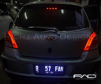custom tail lamp yaris 2011 by richz auto designs