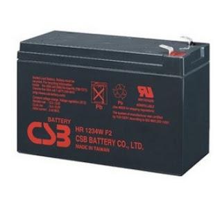 Ắc quy CSB 12V-9Ah, HR1234 F2, UPS12460 F2