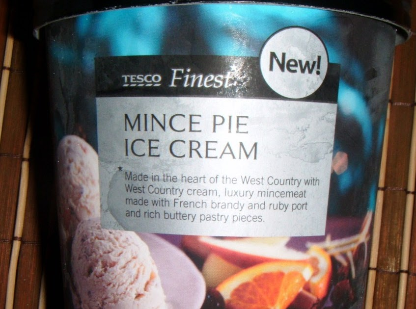 FOODSTUFF FINDS: Mince Pie Ice Cream (Tesco Finest) [By ...