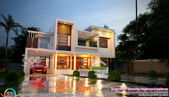 2950 square feet 5 bedroom box model house architecture