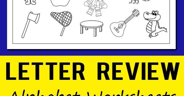 Letter Review Alphabet Worksheets Totschooling - Toddler, Preschool,  Kindergarten Educational Printables
