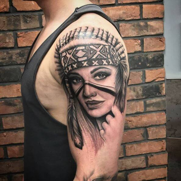 50 traditional native american tattoos with meaning 2018 tattoosboygirl. Black Bedroom Furniture Sets. Home Design Ideas