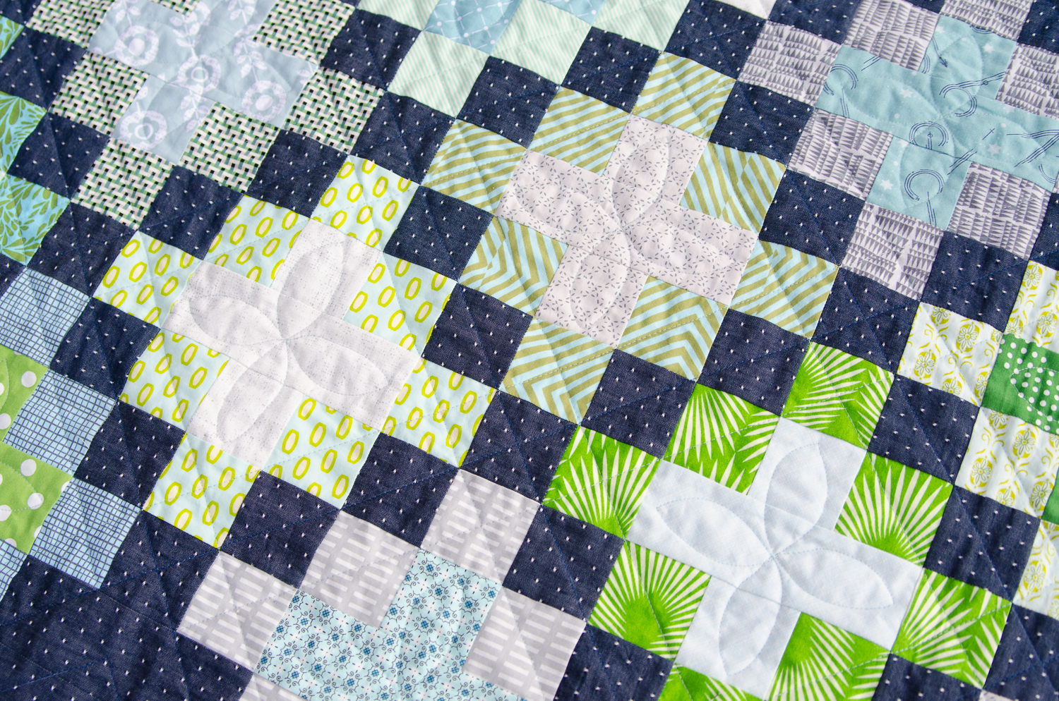 Hyacinth Quilt Designs Another Plus Quilt Variation