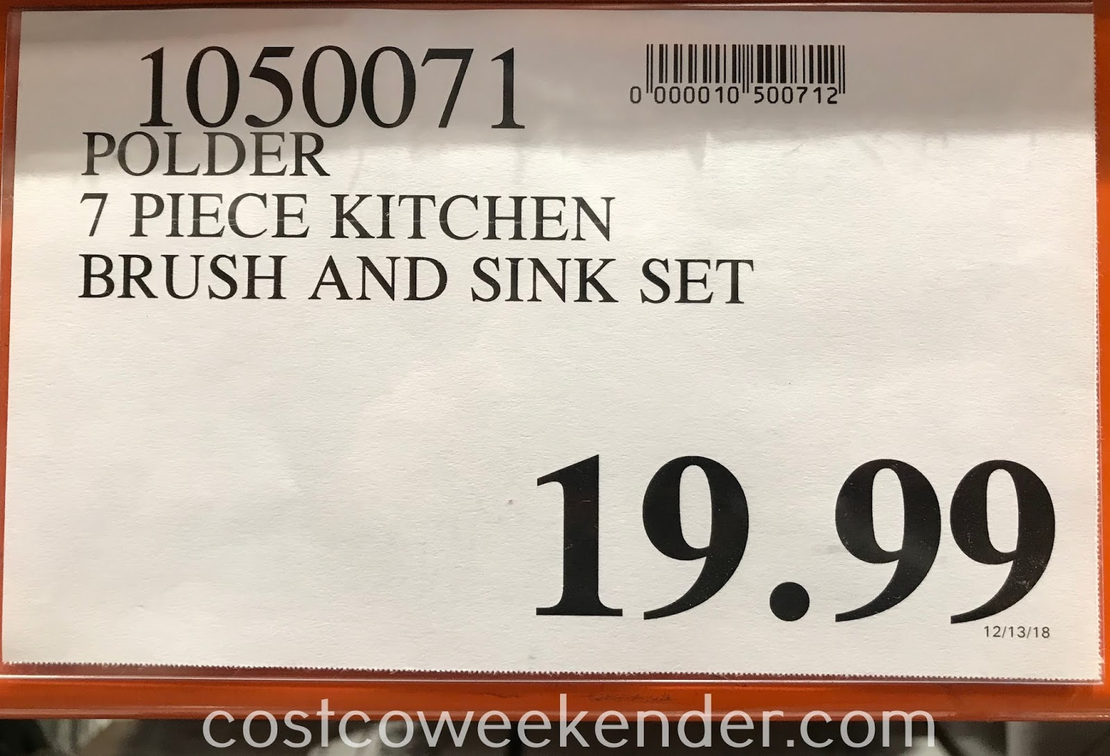 Deal for the 7-piece Polder Kitchen Brush and Sink Set at Costco