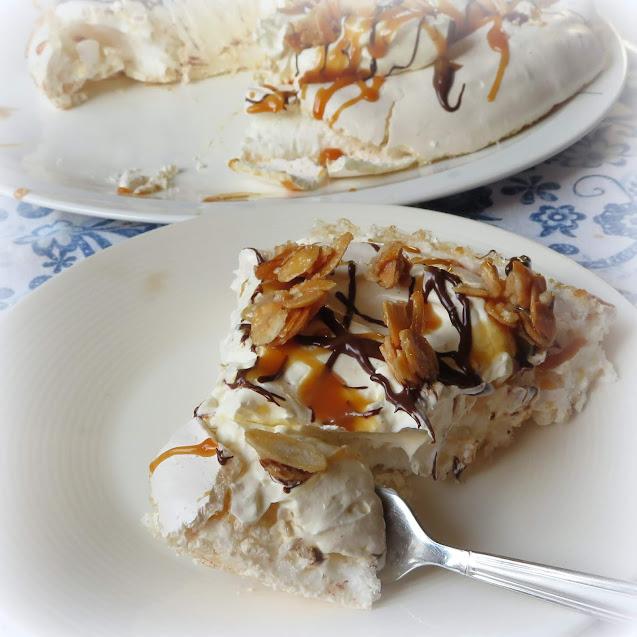 Salted Caramel Pavlova