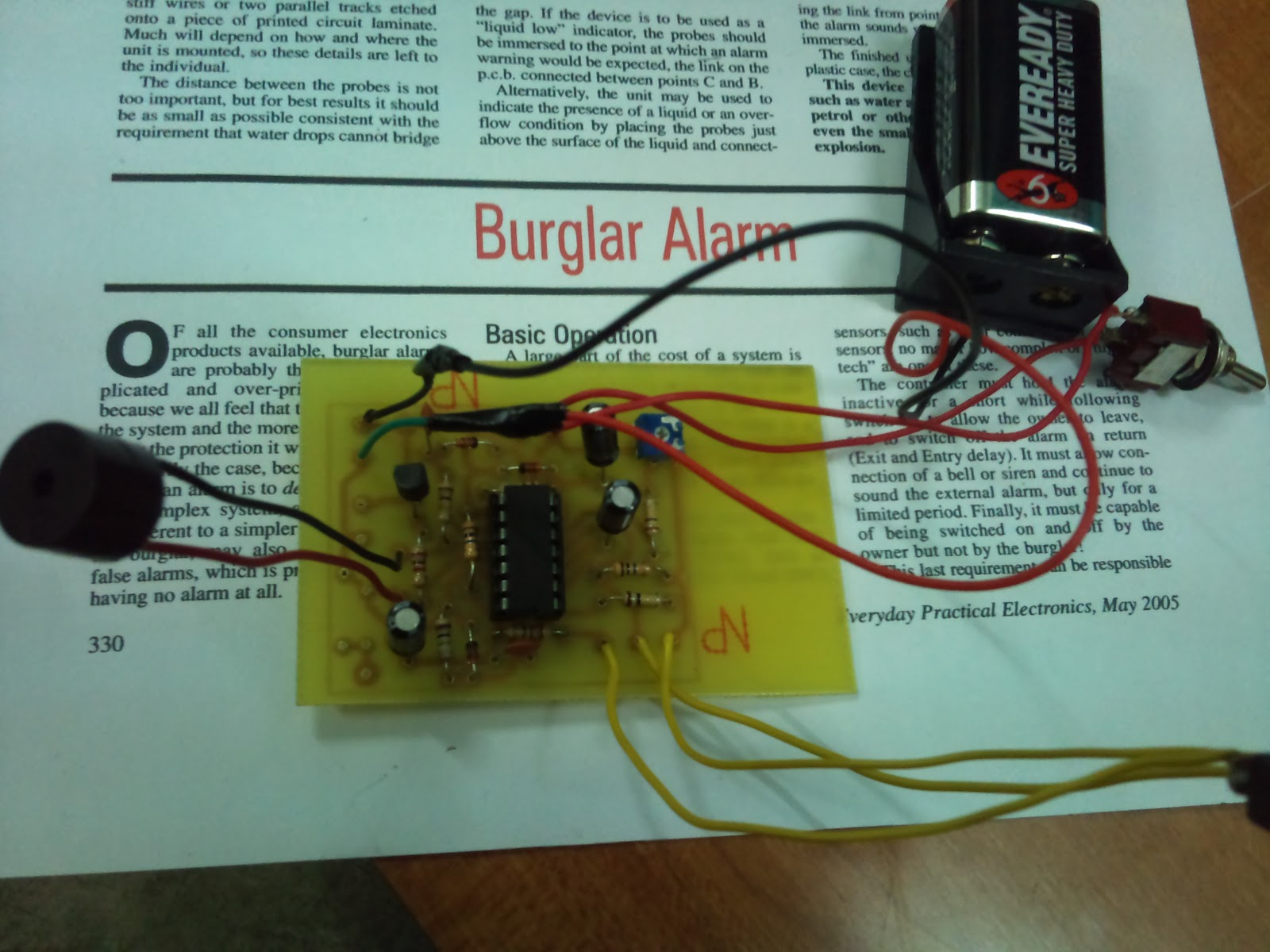 Final Year Project Burglar Alarm Circuit Figure 4 Use Cutter To Cut The Component Leg