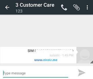 Mengirim ICCID lewat sms