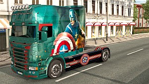Captain America for Scania RJL Longline (EviL)