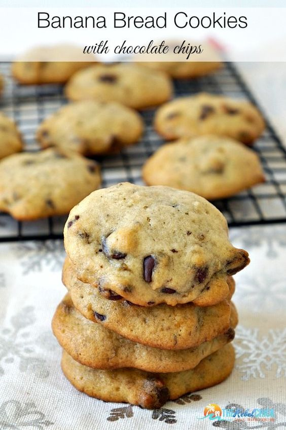 ★★★★☆ 3243 ratings     | BANANA BREAD COOKIES RECIPE #BANANA #BREAD #COOKIES #RECIPE #SWEET