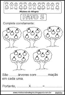 Tabuada de multiplicação do 5 ilustrada