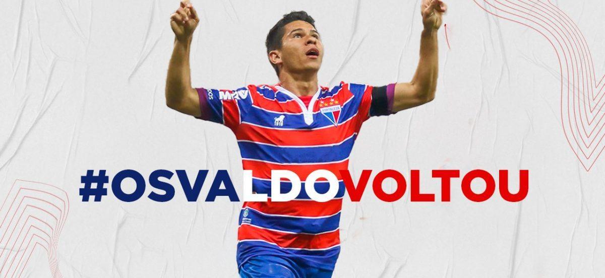 Osvaldo confirma retorno ao Fortaleza nas redes sociais