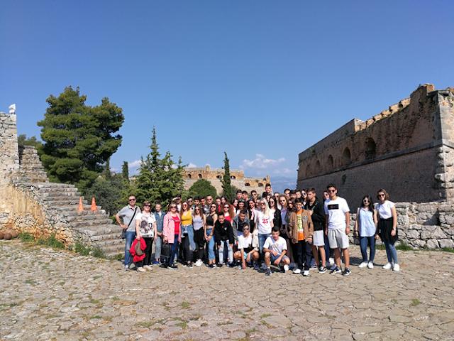 Εκπαιδευτική επίσκεψη πολιτιστικού προγράμματος του 9ου Γυμνασίου Λάρισας σε Ναύπλιο, Ύδρα και Σπέτσες