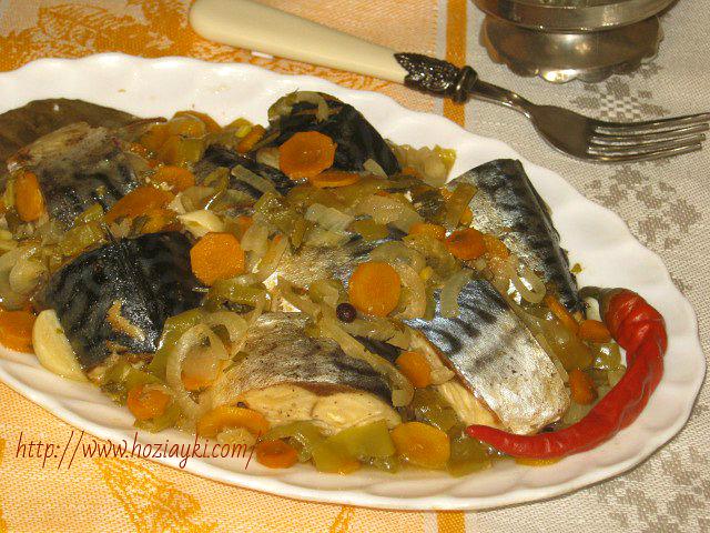 Скумбрия, тушеная с овощами рецепт