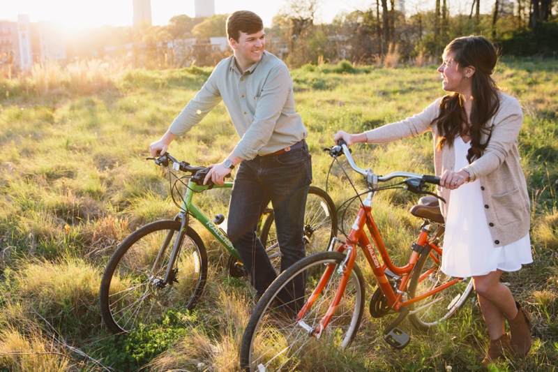 taylor and seth's bike engagement session