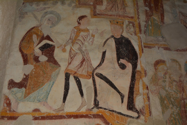 Le martyre de Saint Jacques : Agrippa Ier, petit-fils d'Hérode le Grand, sur la droite avec le manteau noir, ordonne à son serviteur de trancher la tête de l'apôtre Jacques.