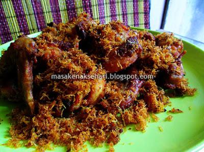 Resep Ayam Goreng Gurih Bumbu Kelapa