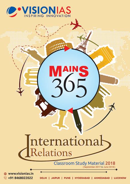 vision-ias-mains-365-international-relations-2018