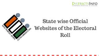 State wise Official Websites of the Electoral Roll