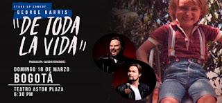 George Harris presenta DE TODA LA VIDA en el Astor Plaza de Bogotá