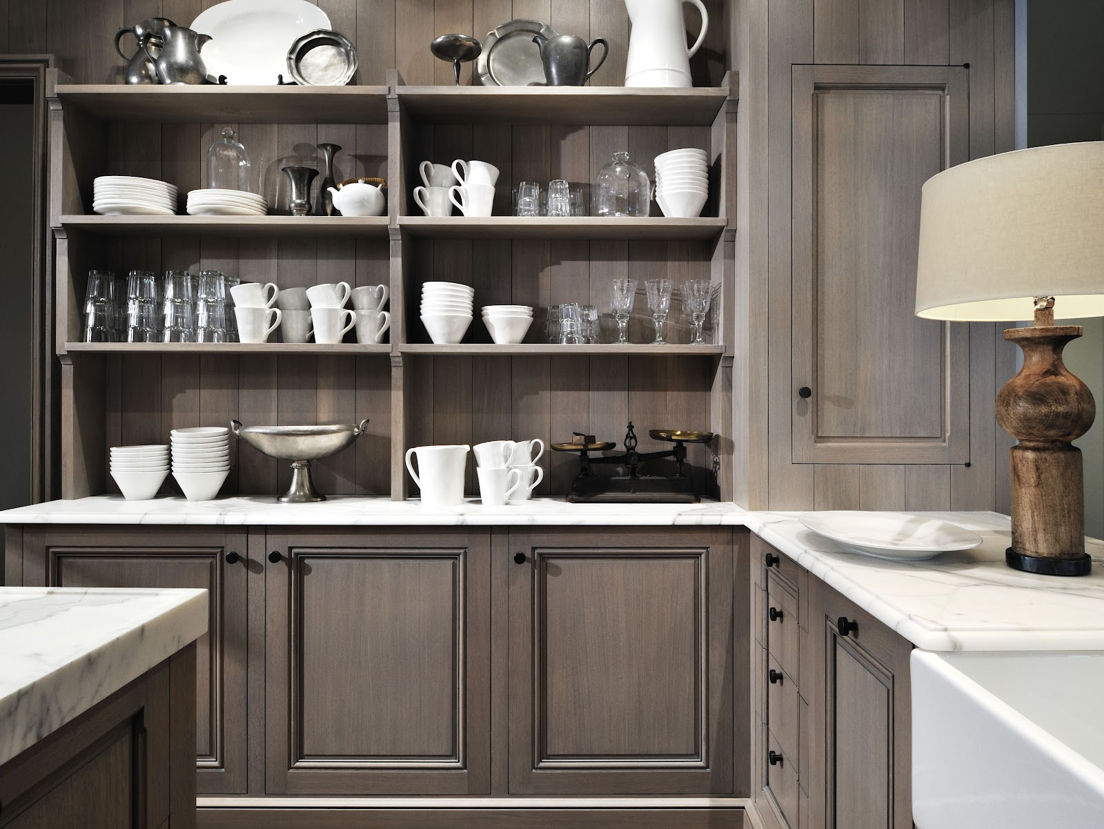 information about home design: Grey wash kitchen cabinets