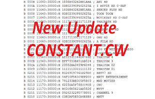 New Update Constant CW Biss Key Thaicom 5/6/8 KU Band