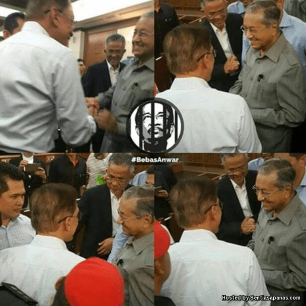 Anwar Dan Mahathir Akhirnya Berjabat Tangan [2]