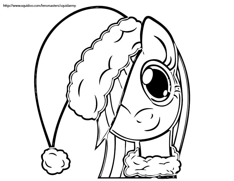 free Christmas coloring Pages Squid Army
