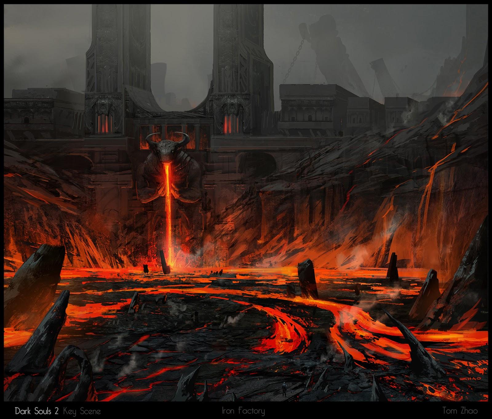 Dark Souls World Map on