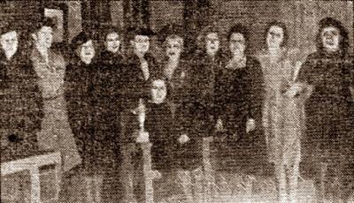 Ajedrecistas participantes en el V Campeonato Femenino de Ajedrez de Catalunya 1942