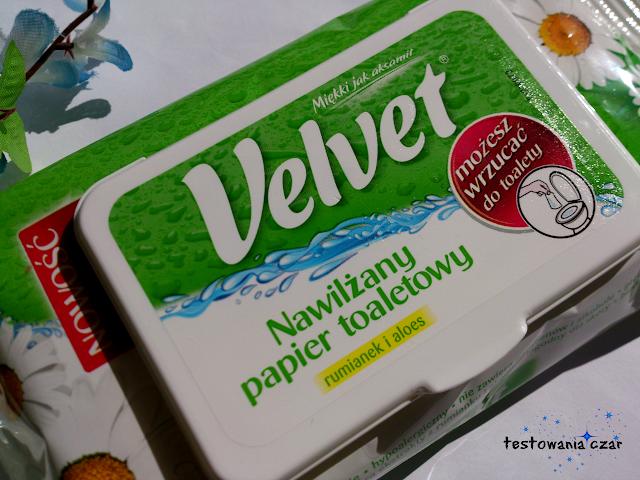 Velvet, Nawilżany papier toaletowy Rumianek i Aloes - testowanie z babyboom.pl